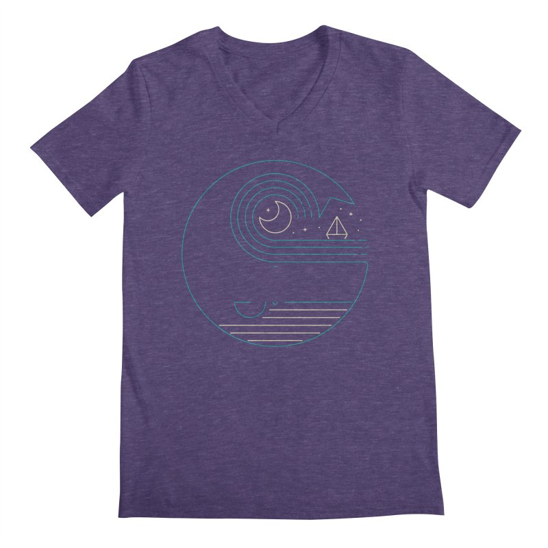 Moonlight Companions Men's Regular V-Neck by thepapercrane's shop