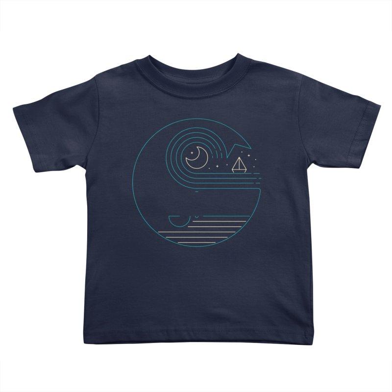 Moonlight Companions Kids Toddler T-Shirt by thepapercrane's shop