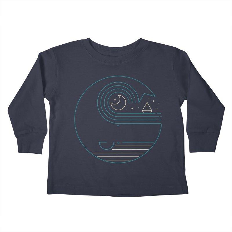 Moonlight Companions Kids Toddler Longsleeve T-Shirt by thepapercrane's shop