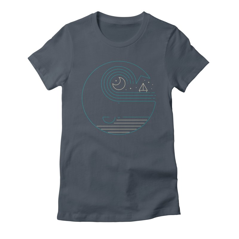 Moonlight Companions Women's Fitted T-Shirt by thepapercrane's shop