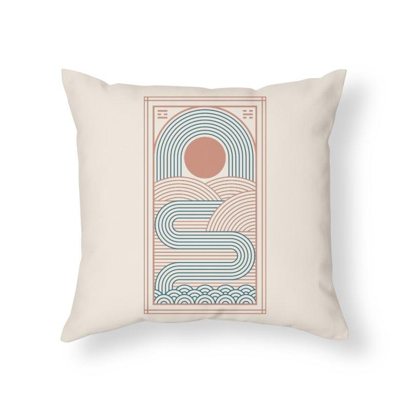 Zen River Home Throw Pillow by thepapercrane's shop