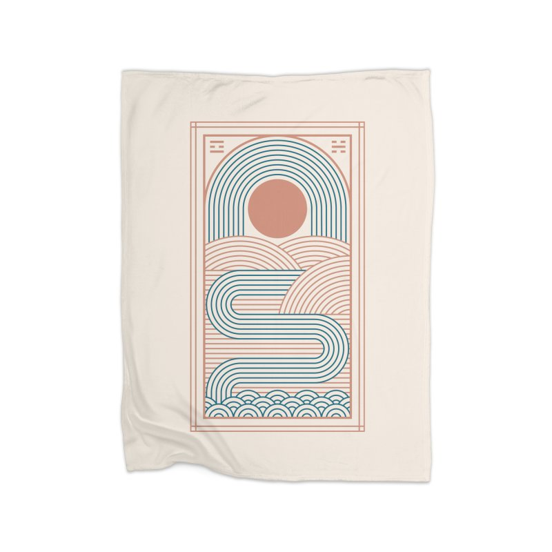 Zen River Home Fleece Blanket Blanket by thepapercrane's shop