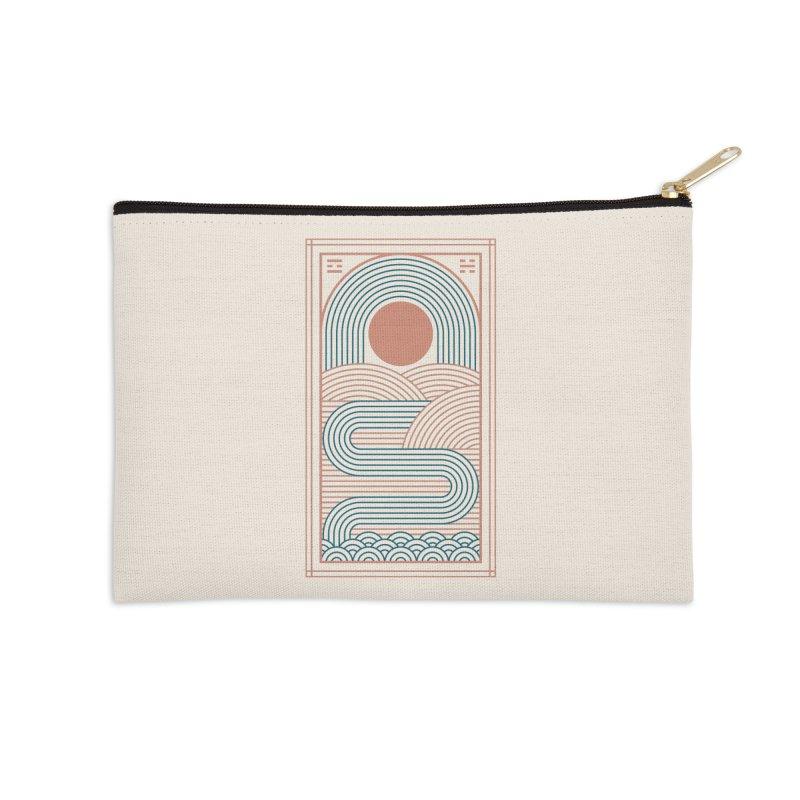 Zen River Accessories Zip Pouch by thepapercrane's shop