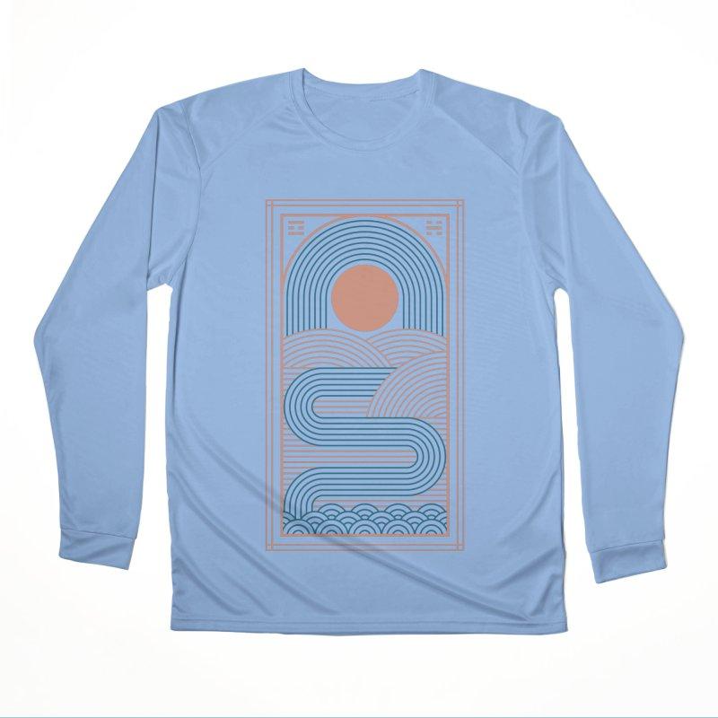 Zen River Men's Performance Longsleeve T-Shirt by thepapercrane's shop