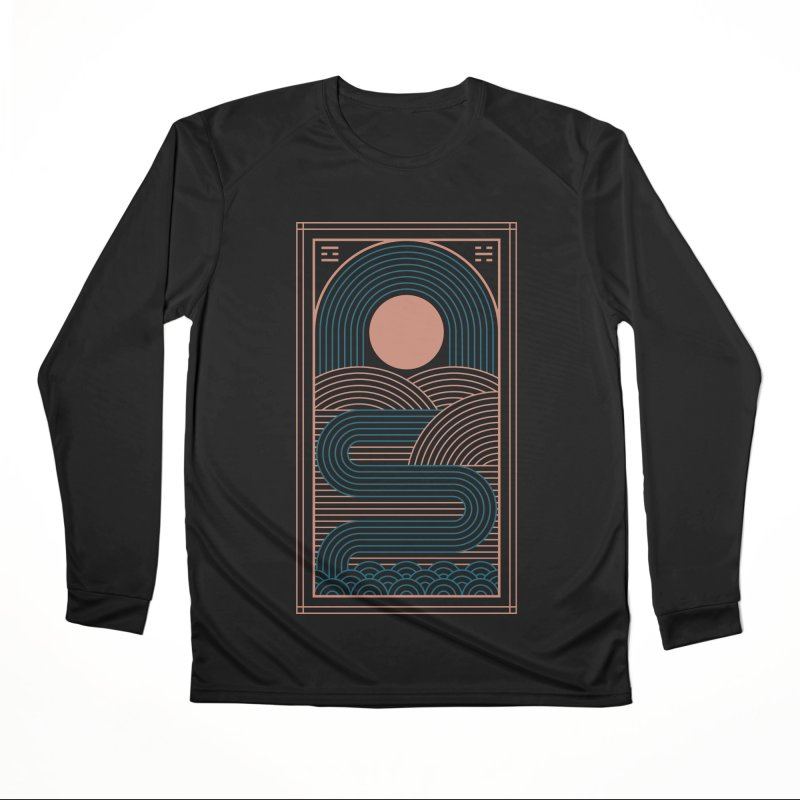 Zen River Men's Performance Longsleeve T-Shirt by thepapercrane's shop