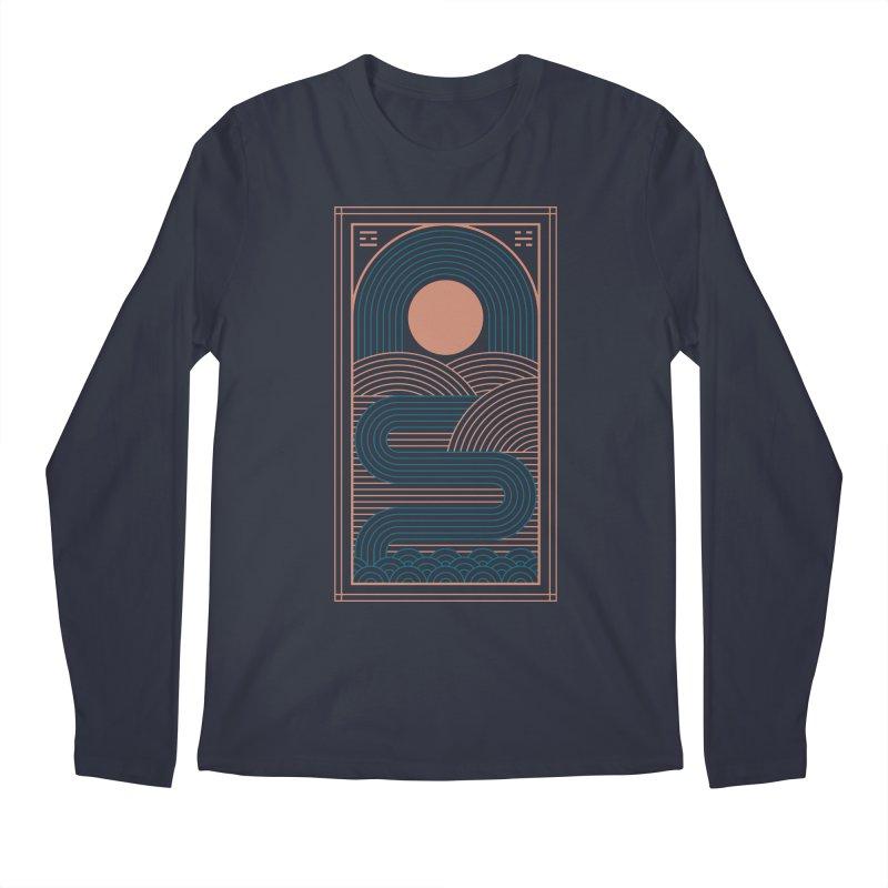 Zen River Men's Regular Longsleeve T-Shirt by thepapercrane's shop
