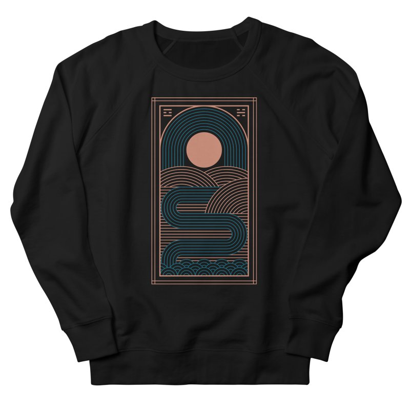 Zen River Men's French Terry Sweatshirt by thepapercrane's shop