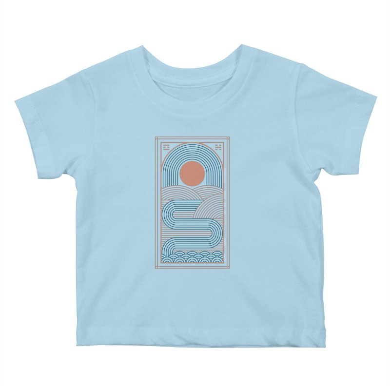 Zen River Kids Baby T-Shirt by thepapercrane's shop