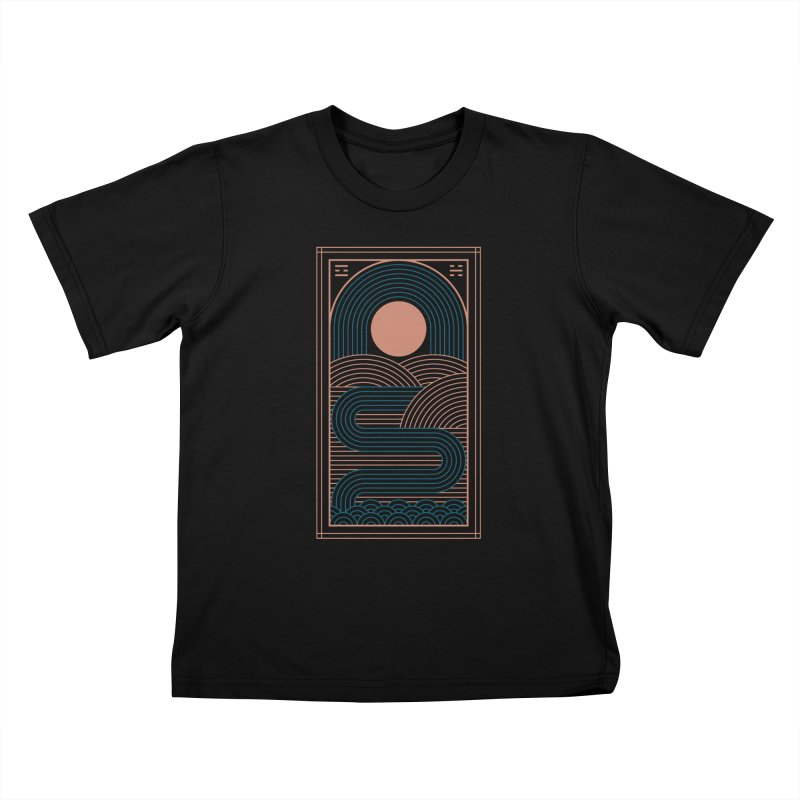 Zen River Kids T-Shirt by thepapercrane's shop