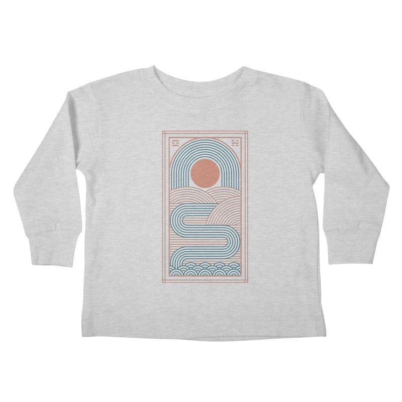 Zen River Kids Toddler Longsleeve T-Shirt by thepapercrane's shop