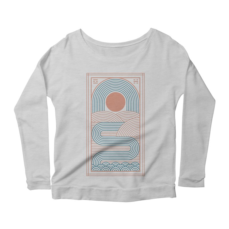 Zen River Women's Scoop Neck Longsleeve T-Shirt by thepapercrane's shop
