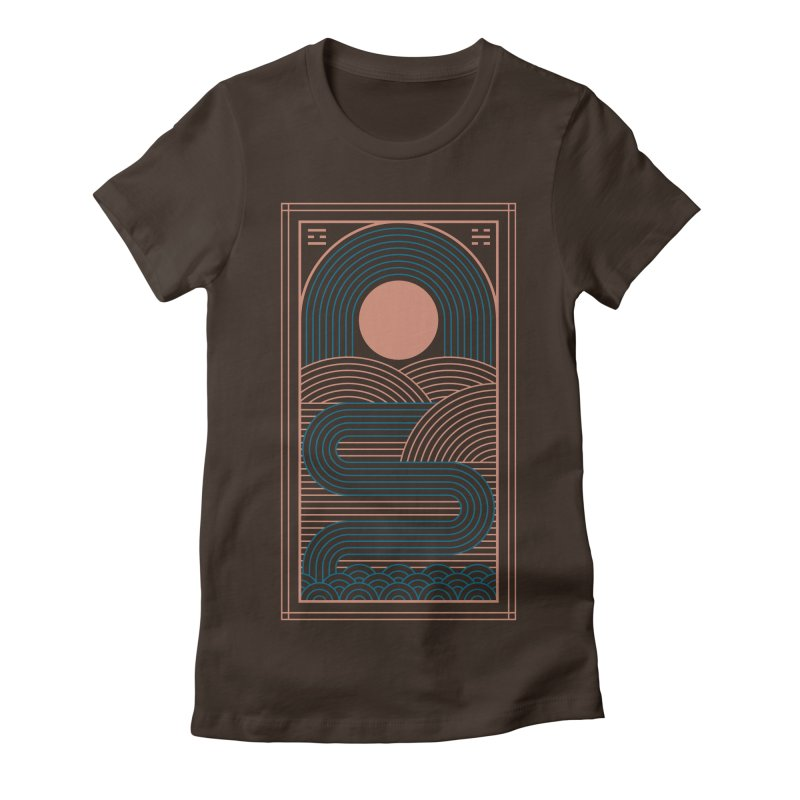 Zen River Women's Fitted T-Shirt by thepapercrane's shop