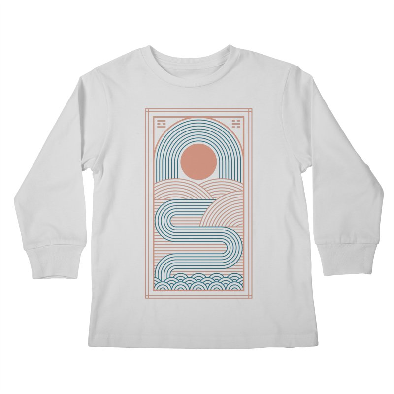 Zen River Kids Longsleeve T-Shirt by thepapercrane's shop