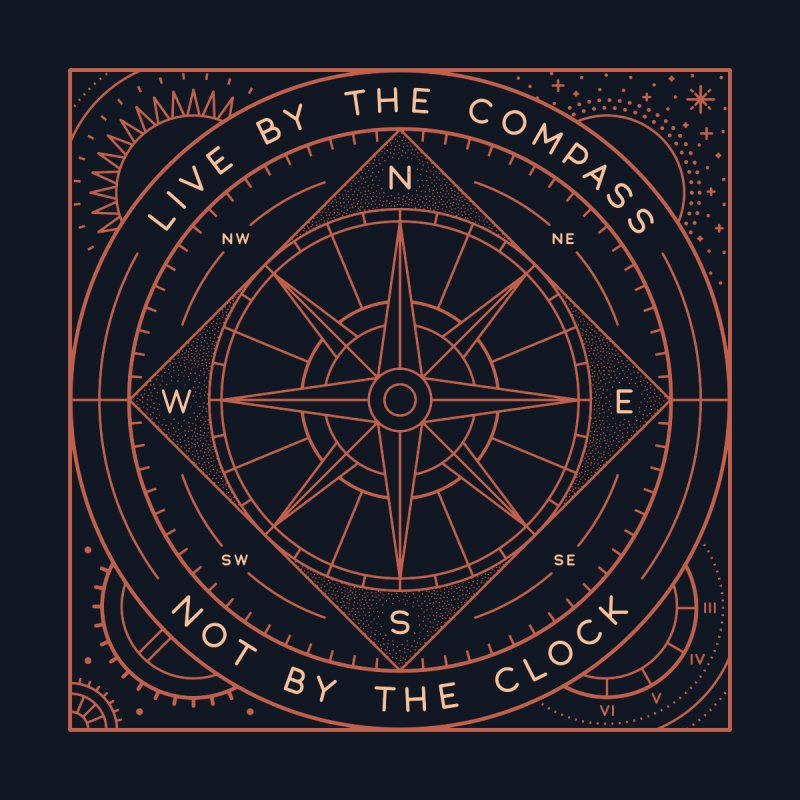 Live By The Compass by thepapercrane's shop