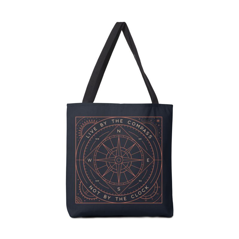 Live By The Compass Accessories Tote Bag Bag by thepapercrane's shop