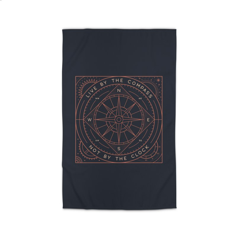 Live By The Compass Home Rug by thepapercrane's shop