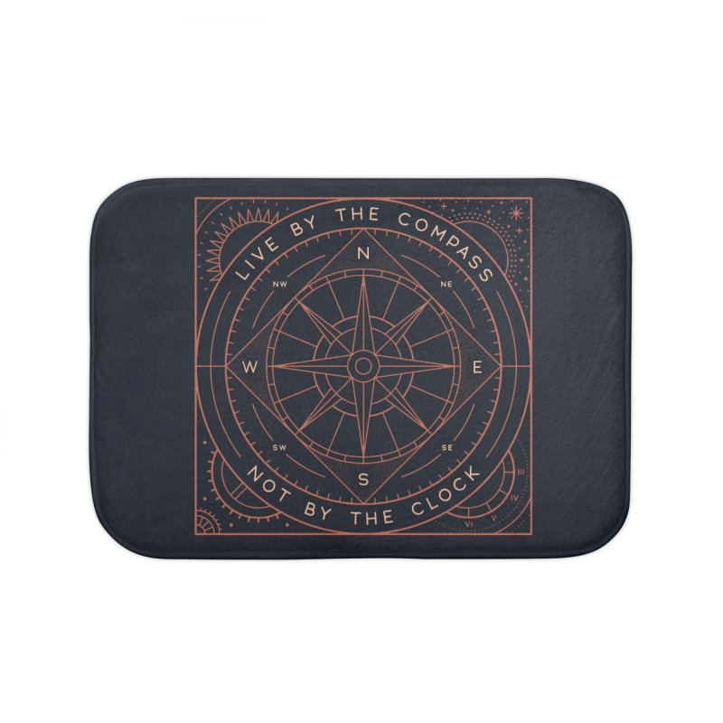 Live By The Compass Home Bath Mat by thepapercrane's shop