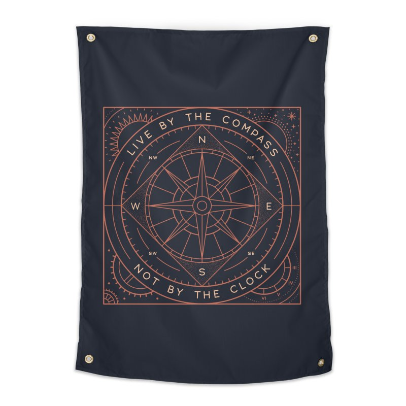 Live By The Compass Home Tapestry by thepapercrane's shop
