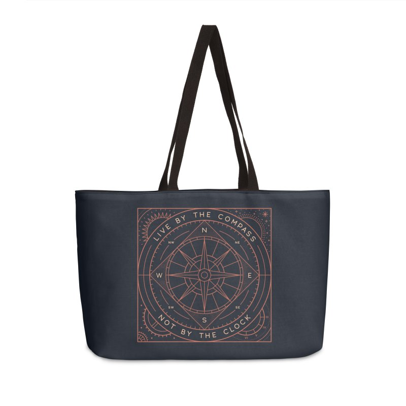 Live By The Compass Accessories Weekender Bag Bag by thepapercrane's shop