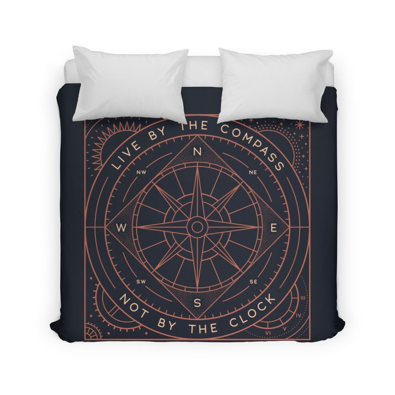 Live By The Compass Home Duvet by thepapercrane's shop