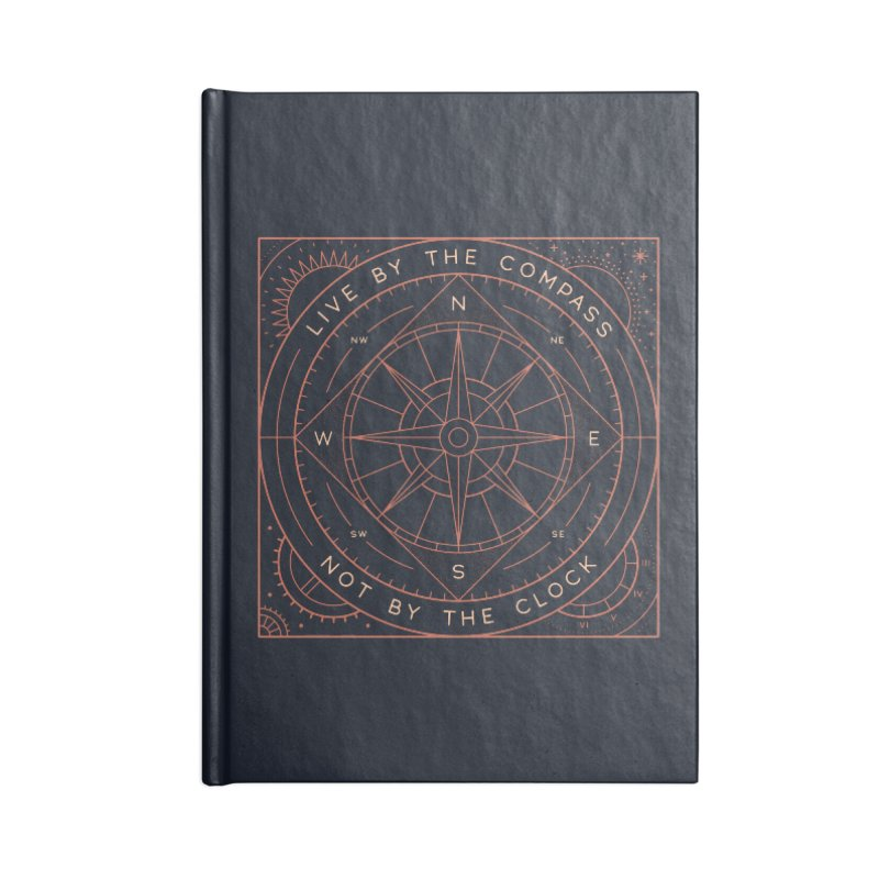 Live By The Compass Accessories Blank Journal Notebook by thepapercrane's shop