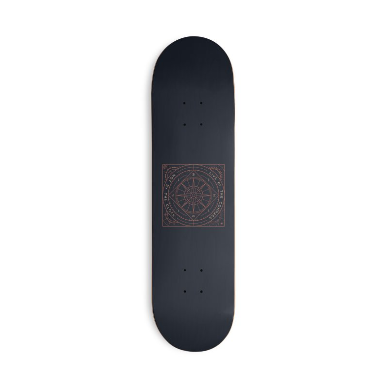 Live By The Compass Accessories Skateboard by thepapercrane's shop
