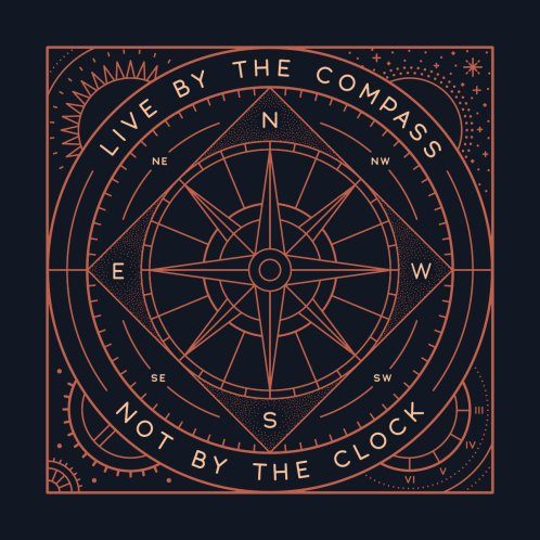 Design for Live By The Compass