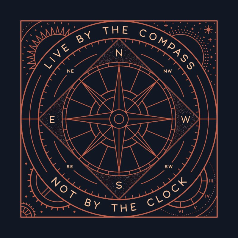 Live By The Compass Men's T-Shirt by thepapercrane's shop