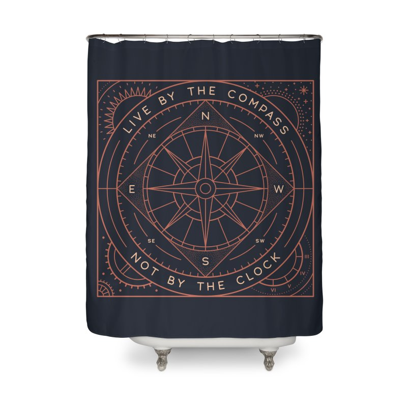 Live By The Compass Home Shower Curtain by thepapercrane's shop