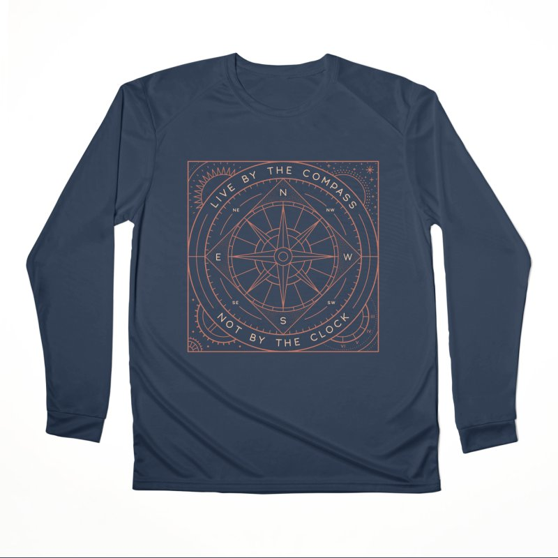 Live By The Compass Men's Performance Longsleeve T-Shirt by thepapercrane's shop