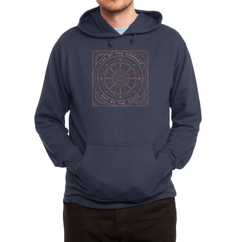 Live By The Compass Men's Pullover Hoody by thepapercrane's shop