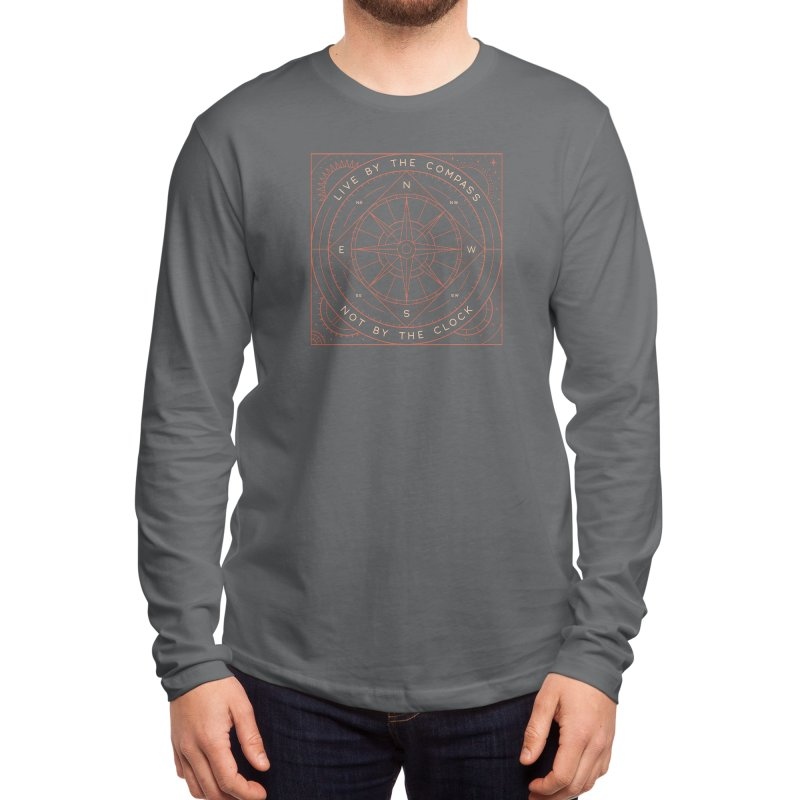 Live By The Compass Men's Longsleeve T-Shirt by thepapercrane's shop