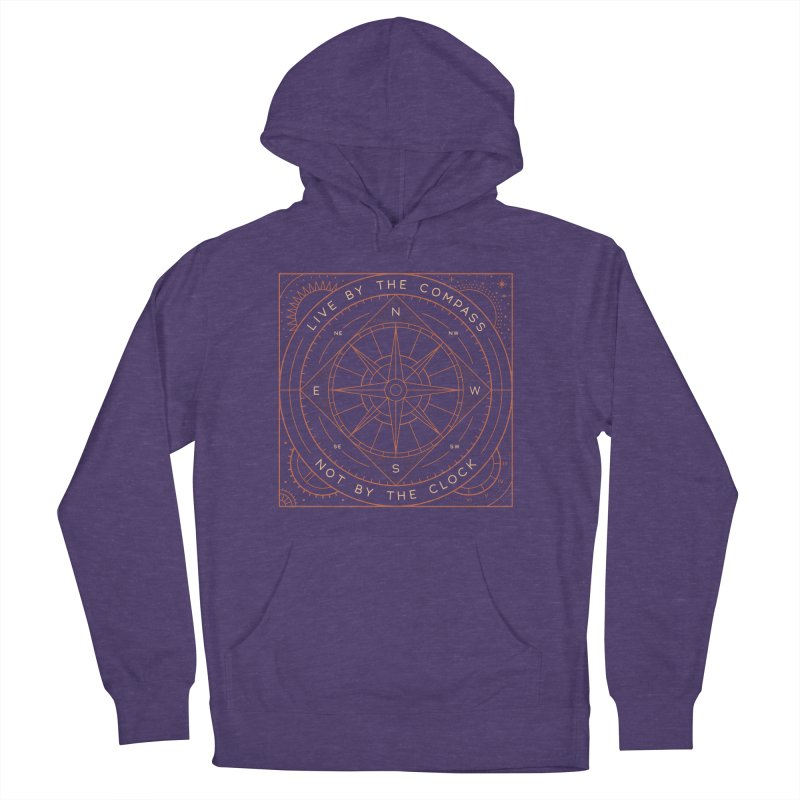 Live By The Compass Men's French Terry Pullover Hoody by thepapercrane's shop