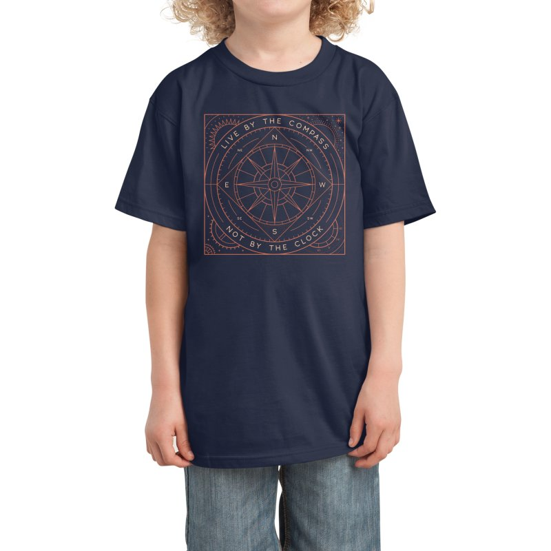 Live By The Compass Kids T-Shirt by thepapercrane's shop