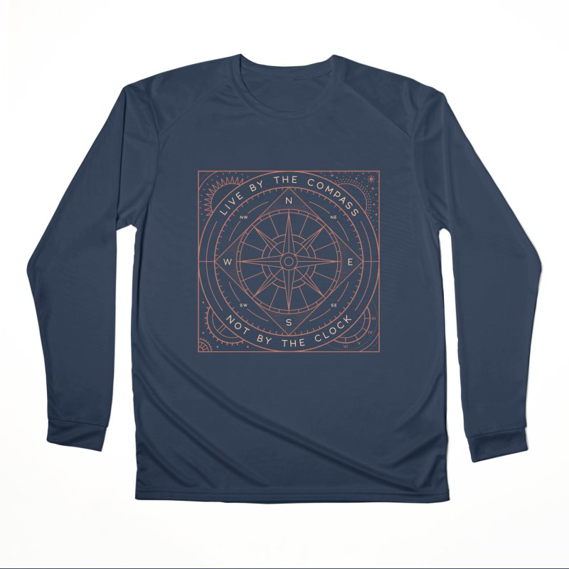 Live By The Compass Women's Performance Unisex Longsleeve T-Shirt by thepapercrane's shop