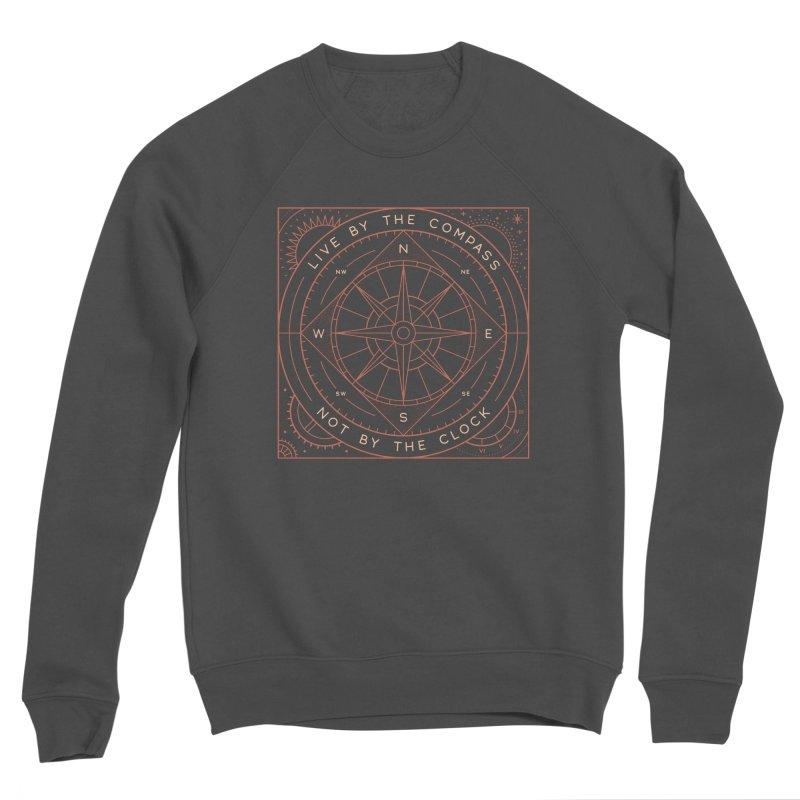 Live By The Compass Women's Sponge Fleece Sweatshirt by thepapercrane's shop