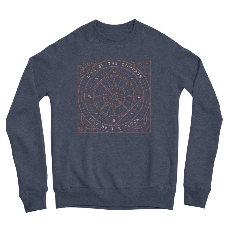 Live By The Compass Men's Sponge Fleece Sweatshirt by thepapercrane's shop