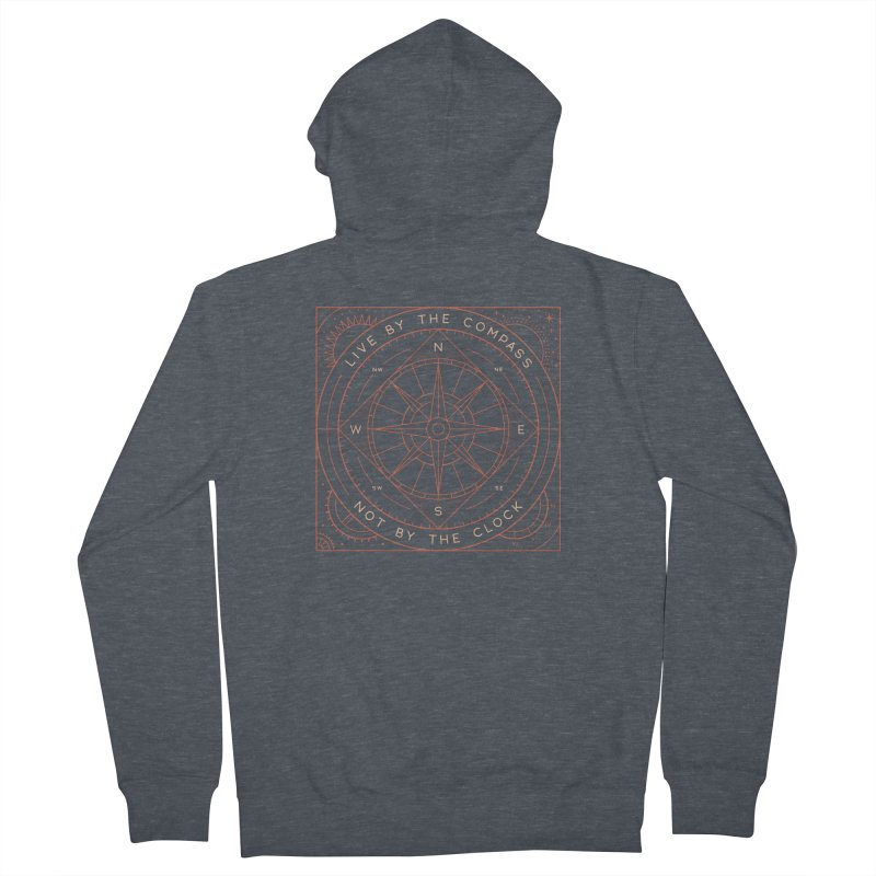 Live By The Compass Women's French Terry Zip-Up Hoody by thepapercrane's shop