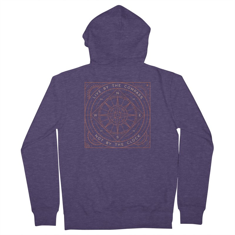 Live By The Compass Men's French Terry Zip-Up Hoody by thepapercrane's shop