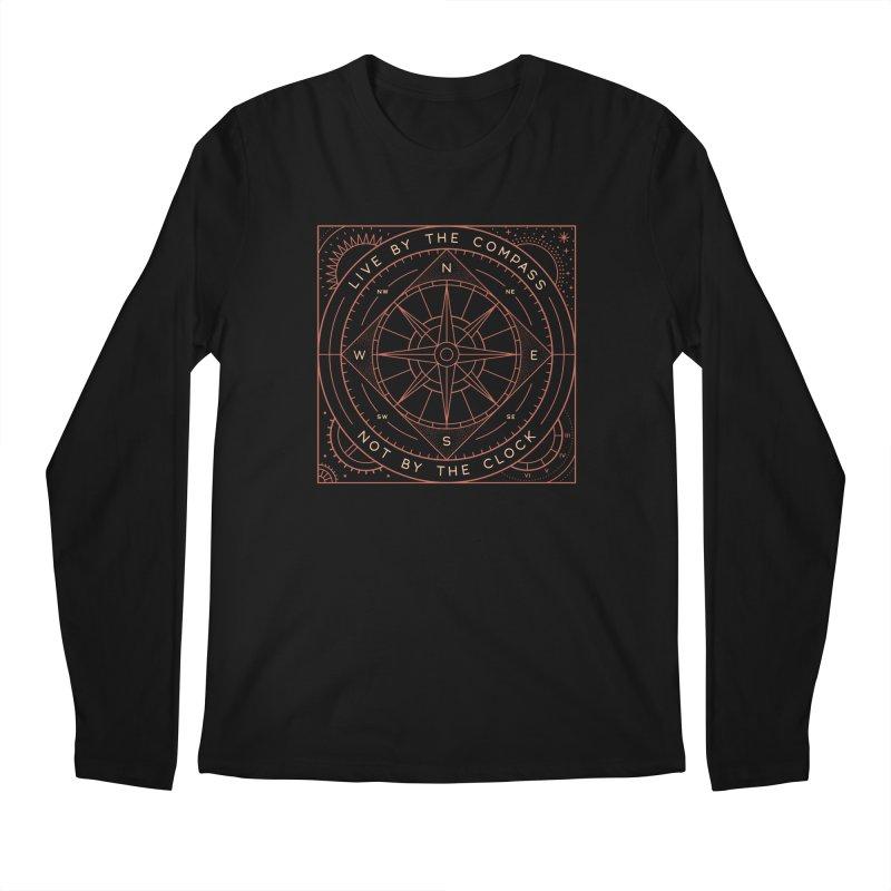 Live By The Compass Men's Regular Longsleeve T-Shirt by thepapercrane's shop