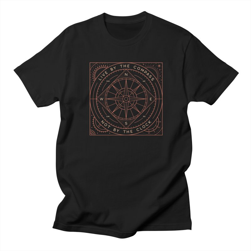 Live By The Compass Men's Regular T-Shirt by thepapercrane's shop