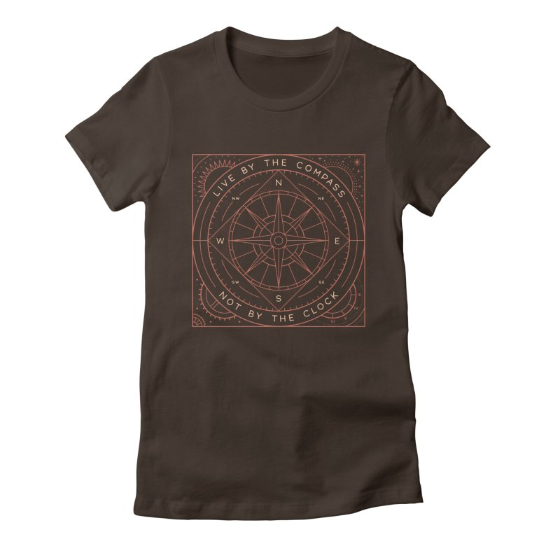 Live By The Compass Women's Fitted T-Shirt by thepapercrane's shop