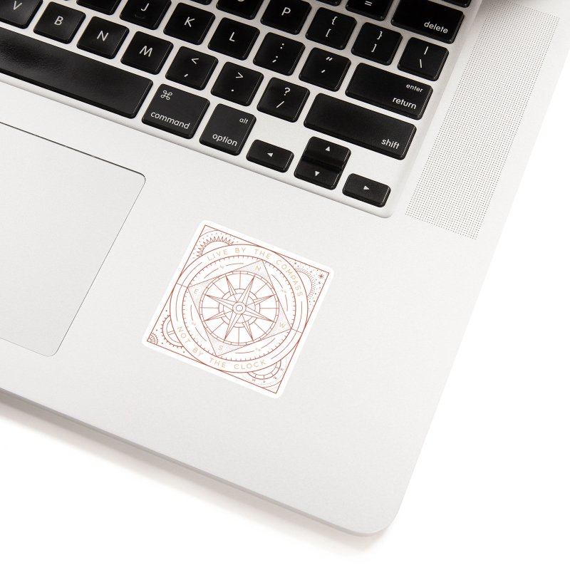 Live By The Compass Accessories Sticker by thepapercrane's shop