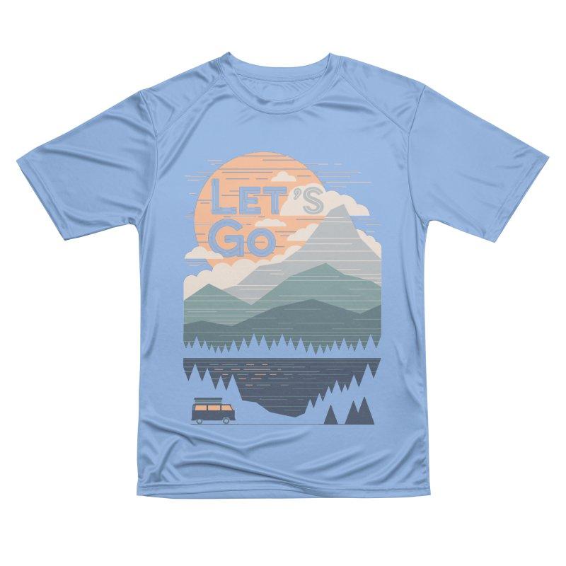 Let's Go Men's Performance T-Shirt by thepapercrane's shop