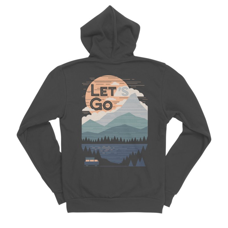 Let's Go Men's Sponge Fleece Zip-Up Hoody by thepapercrane's shop
