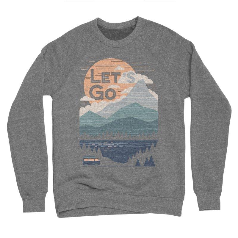 Let's Go Men's Sponge Fleece Sweatshirt by thepapercrane's shop