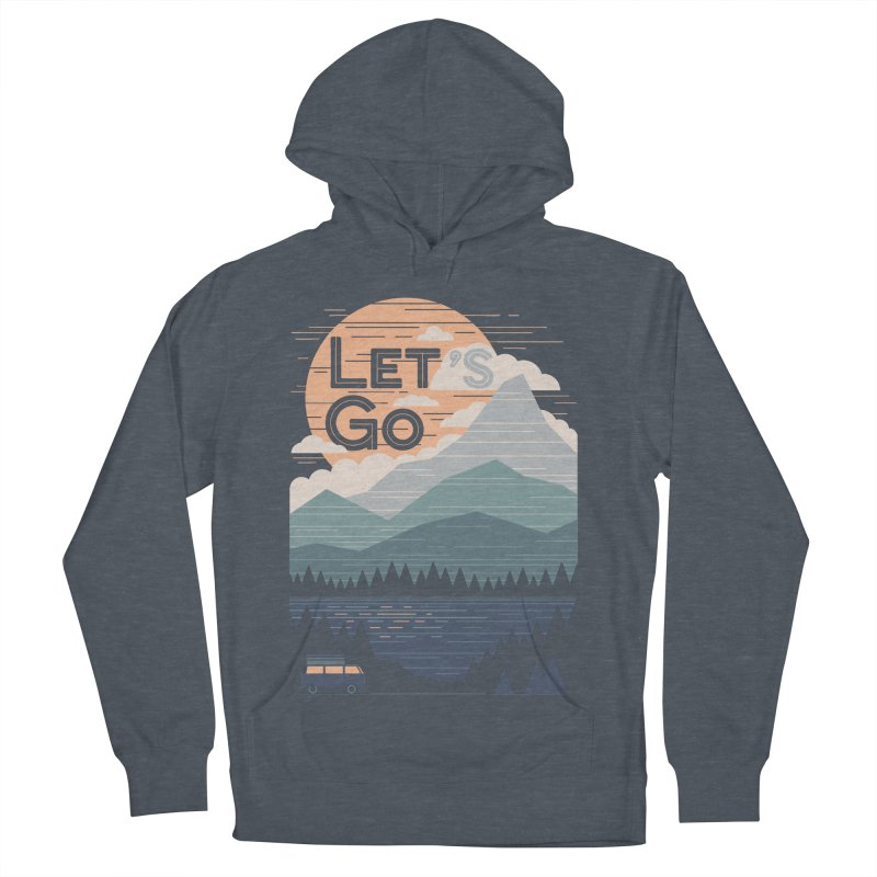 Let's Go Men's French Terry Pullover Hoody by thepapercrane's shop