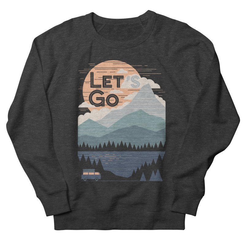 Let's Go Women's French Terry Sweatshirt by thepapercrane's shop