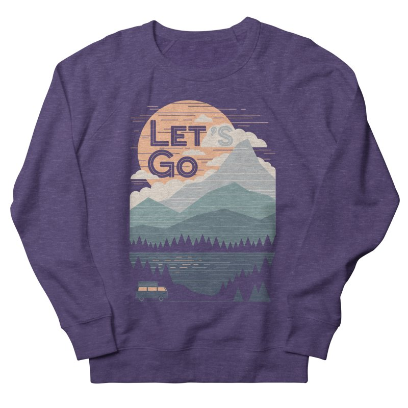 Let's Go Men's French Terry Sweatshirt by thepapercrane's shop