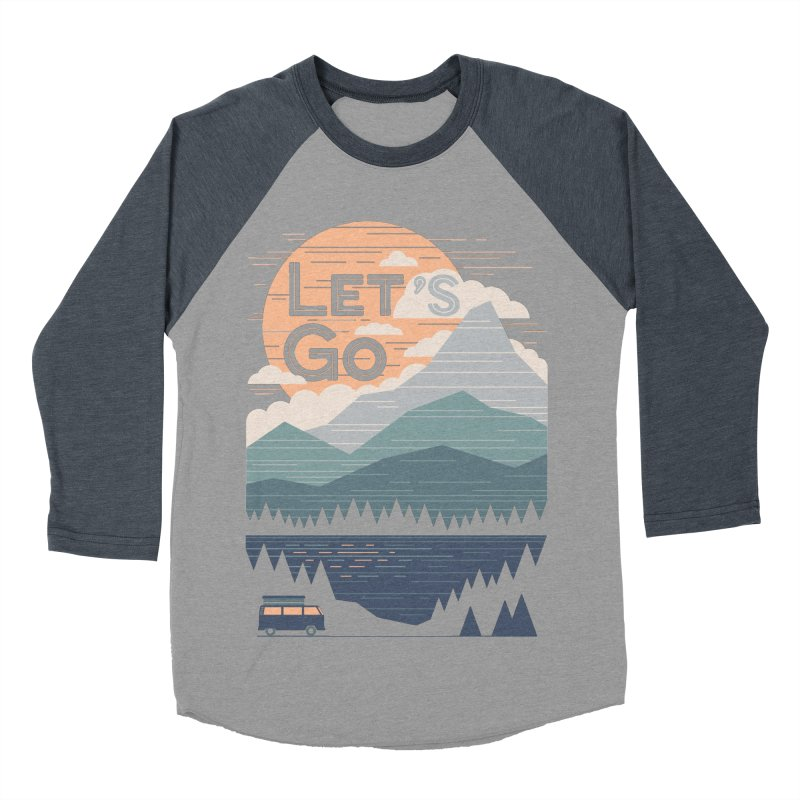 Let's Go Women's Baseball Triblend Longsleeve T-Shirt by thepapercrane's shop